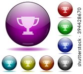 set of color trophy cup glass...