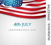 vector american flag background ... | Shutterstock .eps vector #394432744