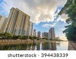 west waikiki skyline along the...   Shutterstock . vector #394438339