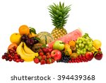 mixed tasty fruit composition... | Shutterstock . vector #394439368