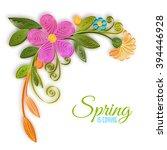 vector color flower branch in... | Shutterstock .eps vector #394446928