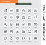 thin thin line icons set of... | Shutterstock .eps vector #394447588