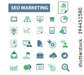 seo marketing icons  | Shutterstock .eps vector #394452580