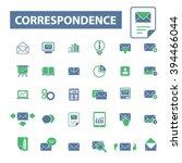 correspondence icons  | Shutterstock .eps vector #394466044