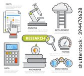 research design concept  flat... | Shutterstock .eps vector #394470628