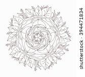 mandala flower leaves   Shutterstock .eps vector #394471834