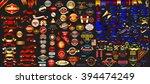 mega collection labels set... | Shutterstock .eps vector #394474249