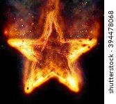 burning star | Shutterstock . vector #394478068