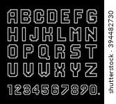 geometrically white alphabet.... | Shutterstock .eps vector #394482730