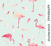 flamingo bird background.... | Shutterstock .eps vector #394486699