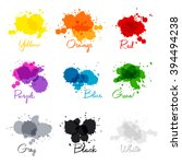 signed the names of colors.... | Shutterstock .eps vector #394494238