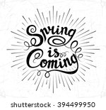 vector hand drawn lettering... | Shutterstock .eps vector #394499950