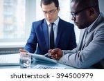 meeting of businessmen | Shutterstock . vector #394500979