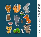 set of stickers for the kids.... | Shutterstock .eps vector #394505839