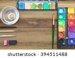 workstation concept top view  ...   Shutterstock . vector #394511488