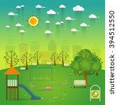 playground. natural landscape... | Shutterstock .eps vector #394512550