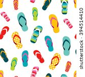 flip flop color summer pattern. ... | Shutterstock .eps vector #394514410