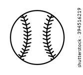 baseball line art icon for...