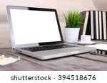 pc  laptop  tablet and phone on ...   Shutterstock . vector #394518676