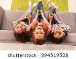 top view photo of happy smiling ... | Shutterstock . vector #394519528