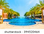 beautiful luxury swimming pool... | Shutterstock . vector #394520464