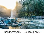 scenic view of snoqualmie falls ... | Shutterstock . vector #394521268