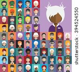 collection of avatars28   65... | Shutterstock .eps vector #394524550