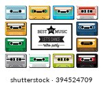 collection of retro colored... | Shutterstock .eps vector #394524709