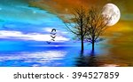 beautiful colorful natural... | Shutterstock . vector #394527859