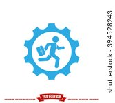 man in gear icon | Shutterstock .eps vector #394528243