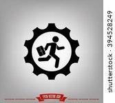 man in gear icon  | Shutterstock .eps vector #394528249