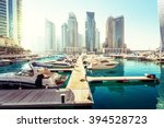 dubai marina at sunset  united...
