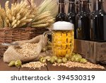 beer crate and beer glass with... | Shutterstock . vector #394530319