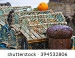 Mesh Net Shellfish Traps At Sea ...