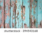 Old Wooden Painted Light Blue...