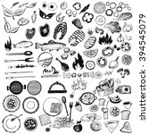 set of symbol for barbecue. eco ... | Shutterstock . vector #394545079