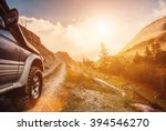 off road travel on mountain... | Shutterstock . vector #394546270