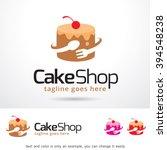 cake shop logo template design... | Shutterstock .eps vector #394548238