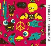 hipster street art seamless... | Shutterstock .eps vector #394548688