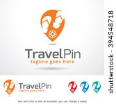 travel pin logo template design ... | Shutterstock .eps vector #394548718