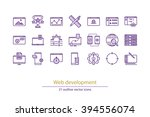 set of vector web development...