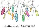 hand drawn sketch bright... | Shutterstock .eps vector #394557160