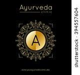 ayurveda vector illustration.... | Shutterstock .eps vector #394557604