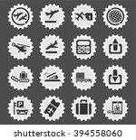 airport  simply symbols for web ... | Shutterstock .eps vector #394558060