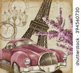paris vintage poster. | Shutterstock . vector #394560730