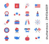 independence day flat color... | Shutterstock .eps vector #394564009