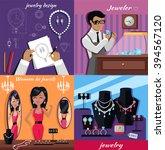 jewelry banner concept design.... | Shutterstock .eps vector #394567120