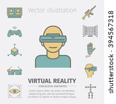 devices for virtual reality  vr ... | Shutterstock .eps vector #394567318