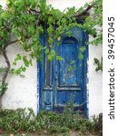 old greek house - stock photo