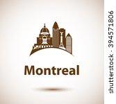 vector city skyline with... | Shutterstock .eps vector #394571806
